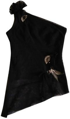 Karen Millen Black Cotton Top for Women