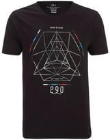 Smith & Jones Men's Byzantine Asymmetric T-Shirt - Black