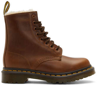 Dr. Martens Brown 1460 Fur Serena Boots