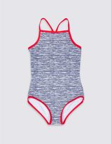 Marks and Spencer Wave Print Swimsuit with Lycra® Xtra LifeTM (3-14 Years)