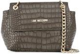 Love Moschino crocodile effect shoulder bag - women - Polyurethane - One Size