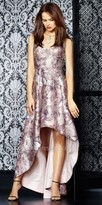 Aidan Mattox A-line High-low Vintage Floral Print Evening Dress