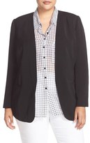 Sejour Plus Size Women's Collarless Blazer