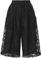 Tome Cotton Lace Cropped Karate Pants