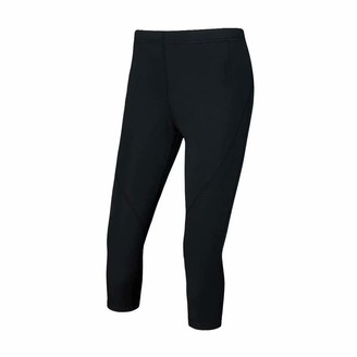 Equipment Desirable Time Women Capri Leggings Pull-On Yoga Pants with Pocket Quick Dry Athletic Leggings 19.8' Inseam Workout Running Multi-Functional Fitness Tights Black S Size
