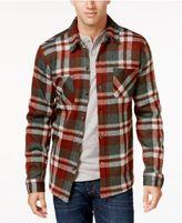 Weatherproof Vintage Men's Big and Tall Plaid Fleece Shirt Jacket, Classic Fit