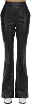 we11done Flared Faux Leather Pants