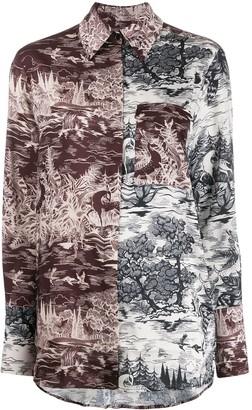 Victoria Victoria Beckham Abstract-Print Shirt
