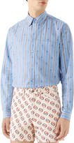 Gucci Men's Bee Stripe Fil Coupe Sport Shirt