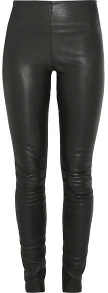 By Malene Birger Elenasoo Leather Leggings - Black