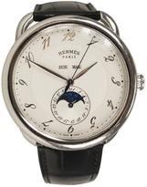 Hermes Black Steel Watch Arceau