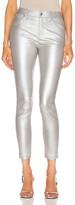 RtA Madrid High waist Skinny in Light Matte Silver | FWRD