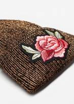 MANGO Floral embroidery beanie