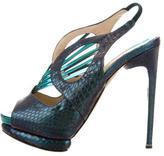 Nicholas Kirkwood Python Caged Sandals