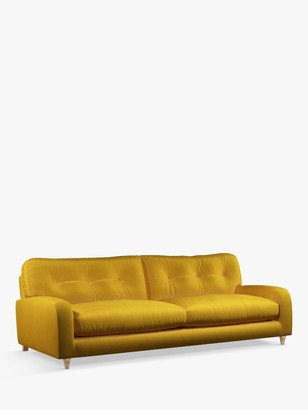 loaf Squishmuffin Grand 4 Seater Sofa by at John Lewis, Clever Velvet Bumblebee