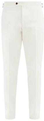 Thom Sweeney - Pressed-crease Cotton-gabardine Tapered Trousers - White