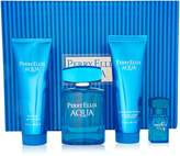 Perry Ellis Aqua for Men-4 Pc Gift Set 3.4-Ounce EDT Spray, 3-Ounce Soothing After Shave Balm, 3-Ounce Shower Gel, 0.25-Ounce EDT Spray