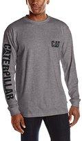 Caterpillar Big and Tall Men's Trademark Banner Long Sleeve T-Shirt