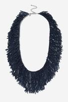 Topshop Seed Bead Tassel Collar Necklace
