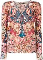 Roberto Cavalli paisley buttoned cardigan