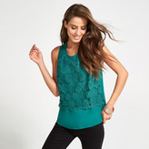 Apricot Green Lace Layer Blouse