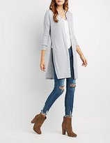 Charlotte Russe Ribbed Duster Cardigan