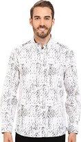 Kenneth Cole New York Men's Long Sleeve Slim Button Down Collar Print Shirt