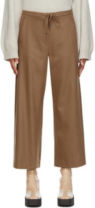 S Max Mara Beige Wool Floria Lounge Pants