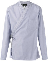 3.1 Phillip Lim floral pinstripe wrap shirt - men - Cotton - S