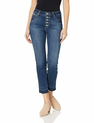 Jag Jeans Women's Gwen Button Fly Slim Ankle Jean