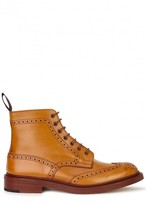 Tricker's Stow Chestnut Leather Brogue Boots