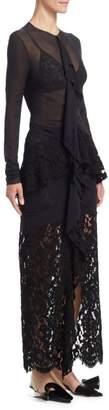 Proenza Schouler Ruffle Lace Dress