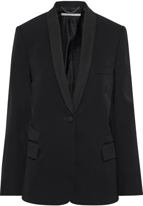 Stella McCartney Briley Grosgrain-trimmed Wool-twill Blazer