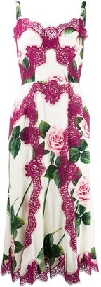 Dolce & Gabbana Rose Lace Bodice Dress