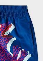 Paul Smith Men's Navy 'Dino' Placement Print Swim Shorts