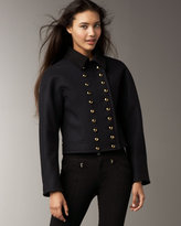Marc by Marc Jacobs Melton Cropped Military Coat
