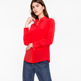 Paul Smith Women's Bright Red Silk Shirt