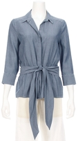 L'Agence Collette Chambray Tie Front Shirt