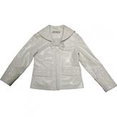 Christian Dior White Leather Jacket coat