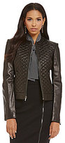 Cole Haan Quilted Genuine Leather Jacket