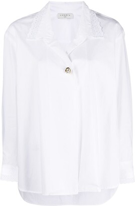 Sandro Notched-Collar Cotton Shirt