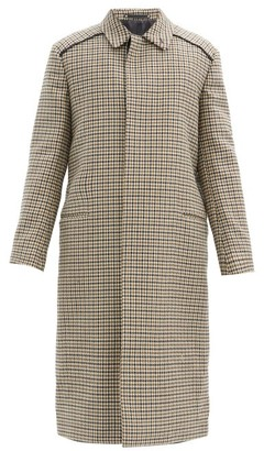 Paul Smith Single-breasted Houndstooth-check Wool Overcoat - Beige Multi