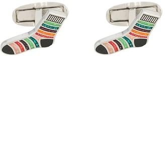Paul Smith Striped sock cufflinks