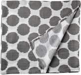 Bacati Ikat Grey Dots One Swaddling Muslin Blanket Single