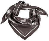 Hermes Ex Libris Silk Triangle Scarf