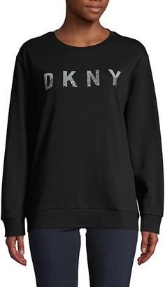 DKNY Crewneck Cotton-Blend Sweatshirt