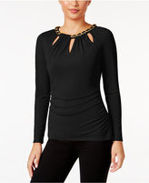 Thalia Sodi Chain-Trim Cutout Top, Only at Macy's