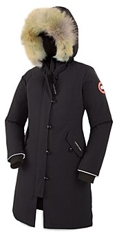 Canada Goose Unisex Fur Trimmed Brittania Parka - Little Kid Big Kid