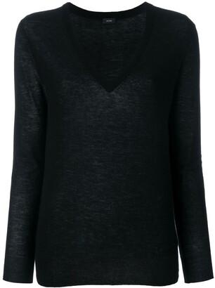 Joseph cashmere V-neck fitted jumper