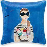 Kate Spade Beach Day Throw Pillow in Blue